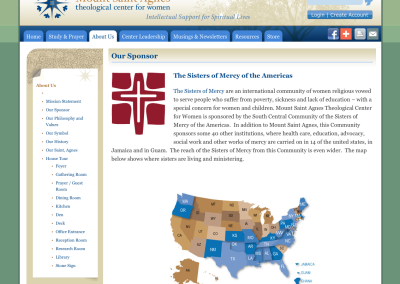 Mount Saint Agnes Sisters of Mercy Map