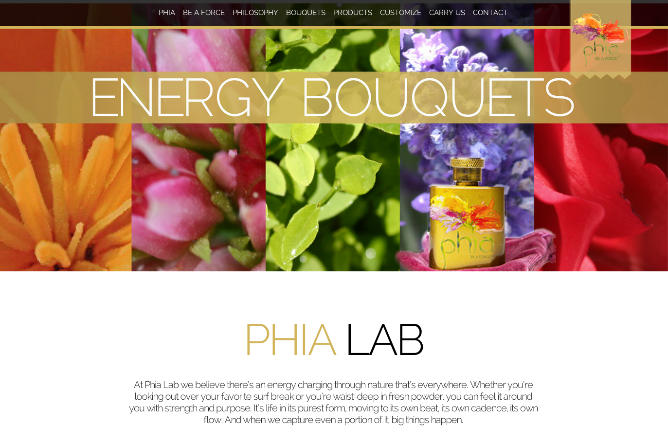 Scent product website slider development