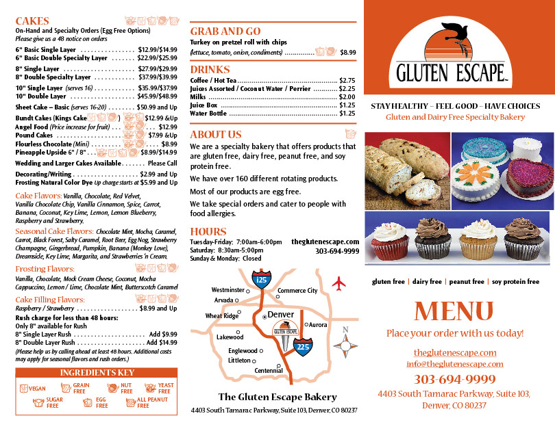 LCC, Inc. has produced the Gluten Escape Specialty Bakery website and product packaging. We continue to assist with studio food photography and branding for a Gluten Free Specialty Bakery located in Denver Colorado. The social media news feed posts directly on their website from Facebook. Visit http://theglutenescape.com launched May 2015. Lucy is in process of designing the product line for gluten free flour sold exclusively by The Gluten Escape.